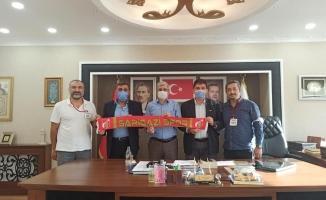 Sarıgazispor İlçe Başkanlarını ziyaret etti…