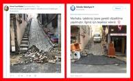 Üsküdar Belediyesi'nin yol düzenlemesi sosyal medyada tepki çekti