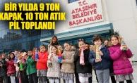 BİR YILDA 9 TON KAPAK, 10 TON ATIK PİL TOPLANDI