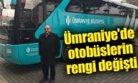 Ümraniye'de otobüslerin rengi değişti