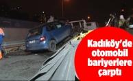 Kadıköy'de otomobil bariyerlere çarptı: 2 yaralı