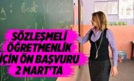 Sözleşmeli öğretmenlik için ön başvuru 2 Mart'ta