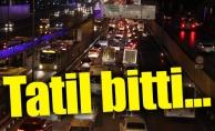Yarıyıl tatili bitti, trafik geri geldi