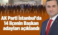 AK Parti İstanbul'da 14 ilçenin Başkan adayları açıklandı...