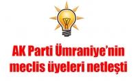 AK Parti Ümraniye'nin meclis üyelerinetleşti
