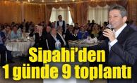 Sipahi'den 1 günde 9 toplantı