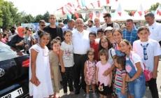 Başkan Can, Yaz Yüzme Havuzlarının kapanış töreninde öğrencilerle buluştu