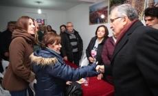 Beykozlu kadınlardan Murat Aydın'a coşkulu karşılama