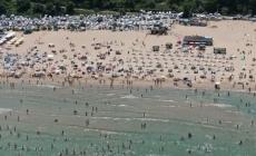 Şile plajları doldu taştı
